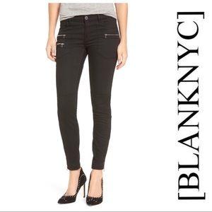 Blank NYC Black Zip Ankle Skinny Pant